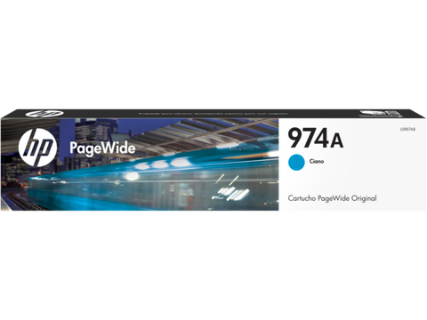 HP 974A Ink Cartridge Cyan L0R87AL