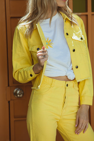 Daisy Fray Jacket