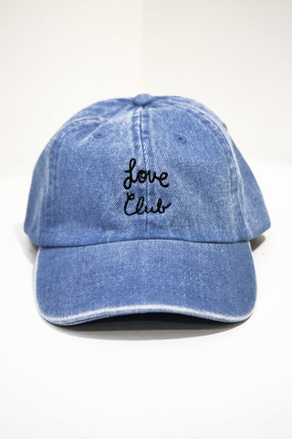 Love Club Denim Baseball Cap