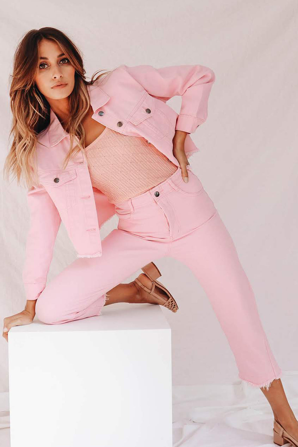Candy Pink Denim Jeans