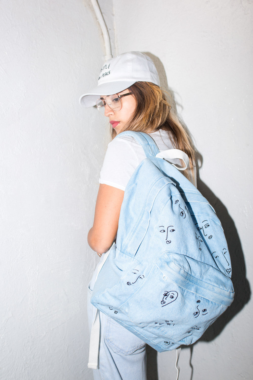 Faces of love Club Denim BackPack
