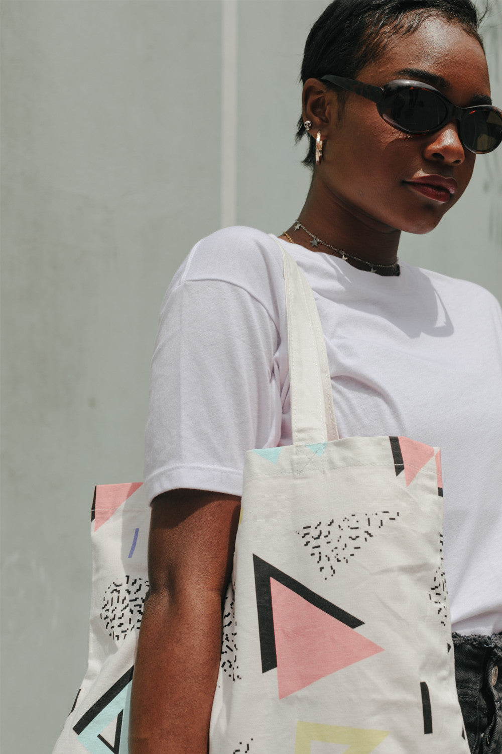 The Style Club Geo print tote bag