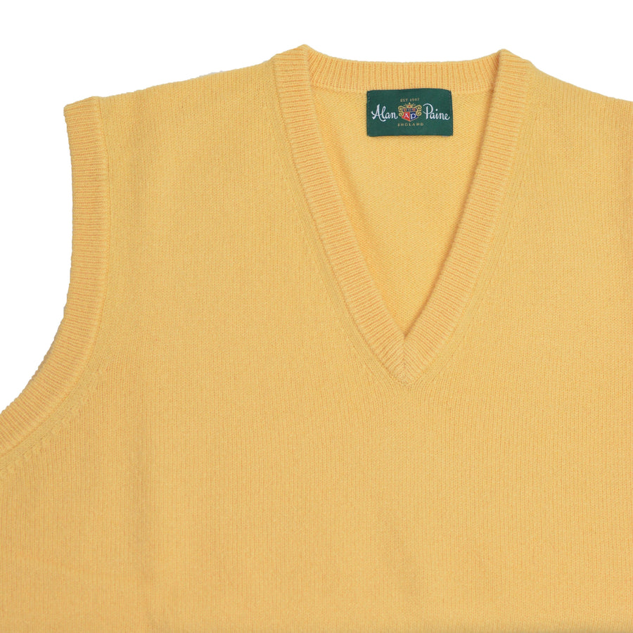 Canary Lambswool V-neck Vest