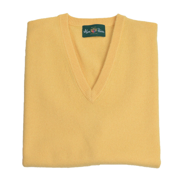 Yellow Canary Lambswool V-Neck Sweater Vest