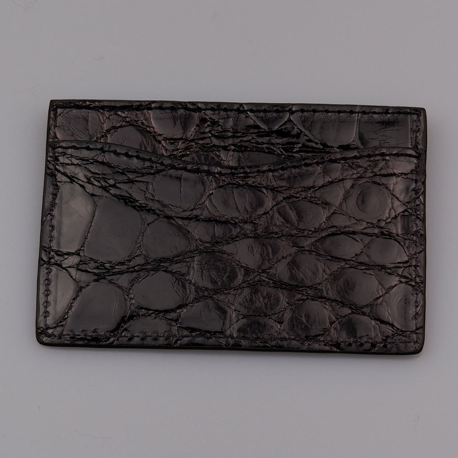 Black  Alligator Card Case