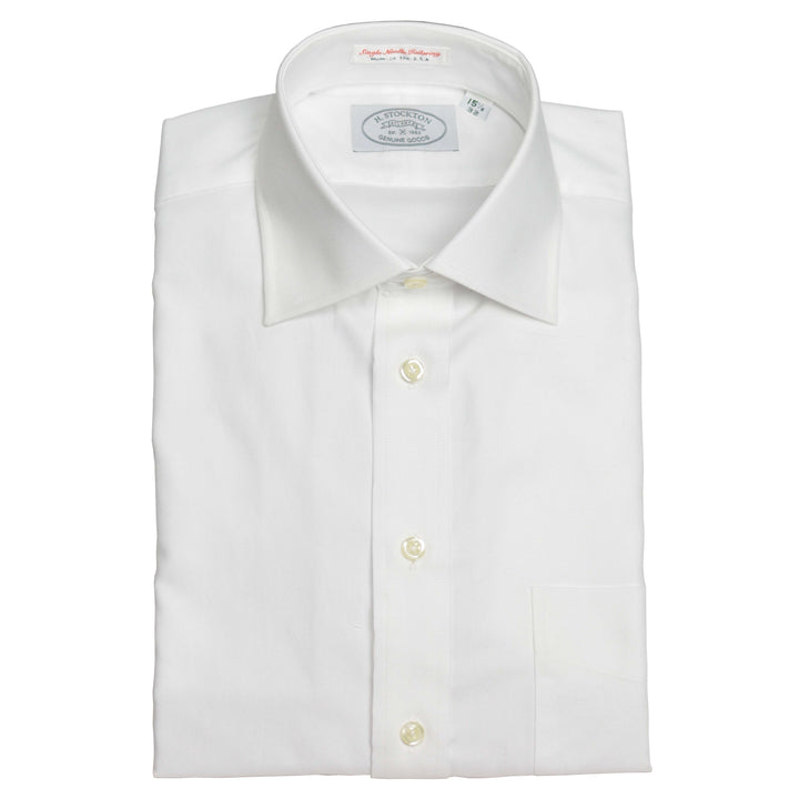 White French oxford spread collar