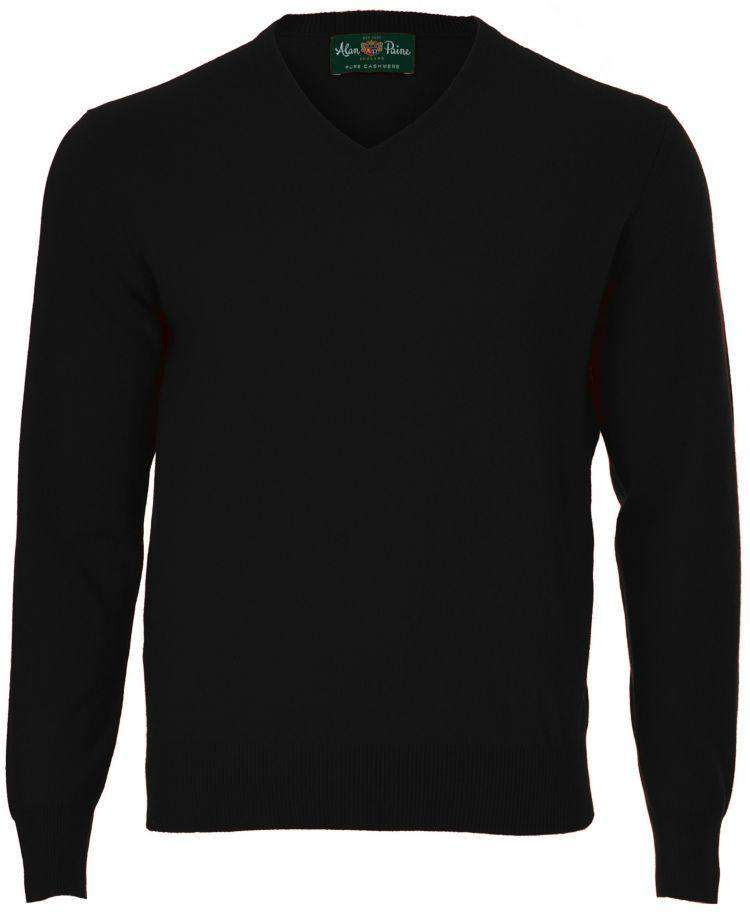 Black Cashmere V-Neck