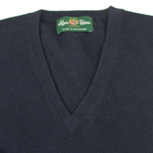 Dark Navy Cashmere V-neck