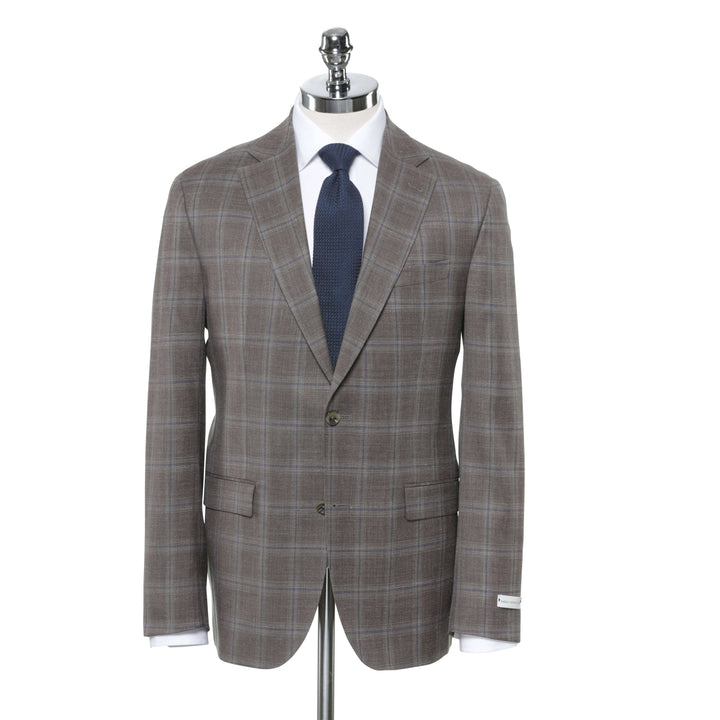 Brown soft windowpane sport coat