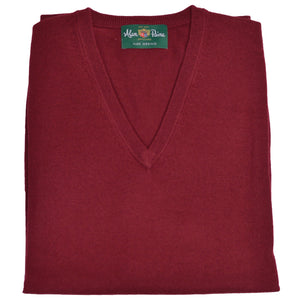 Bordeaux Merino V-Neck