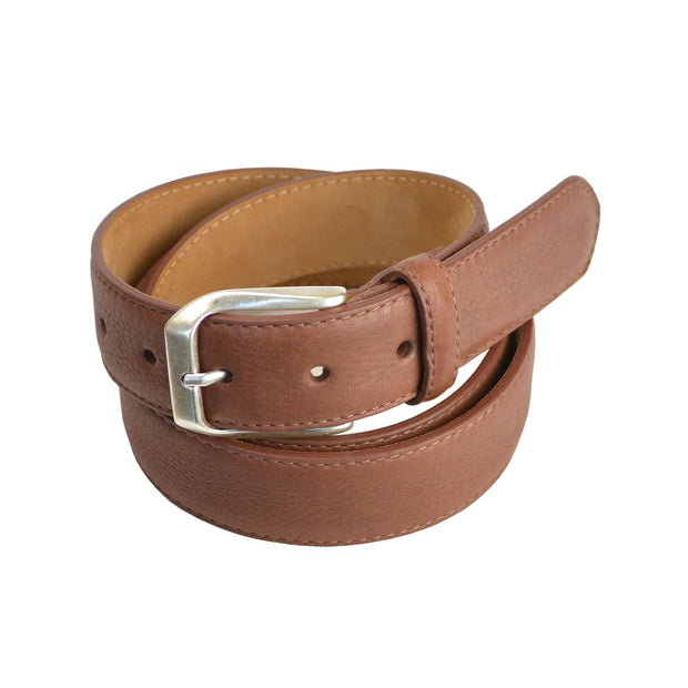 Brown Mahogany Deerskin Leather Belt