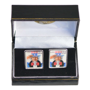 Uncle Sam Stamp Cufflinks