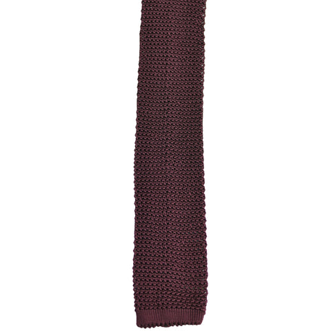 Burgundy Wine Silk Knit Tie