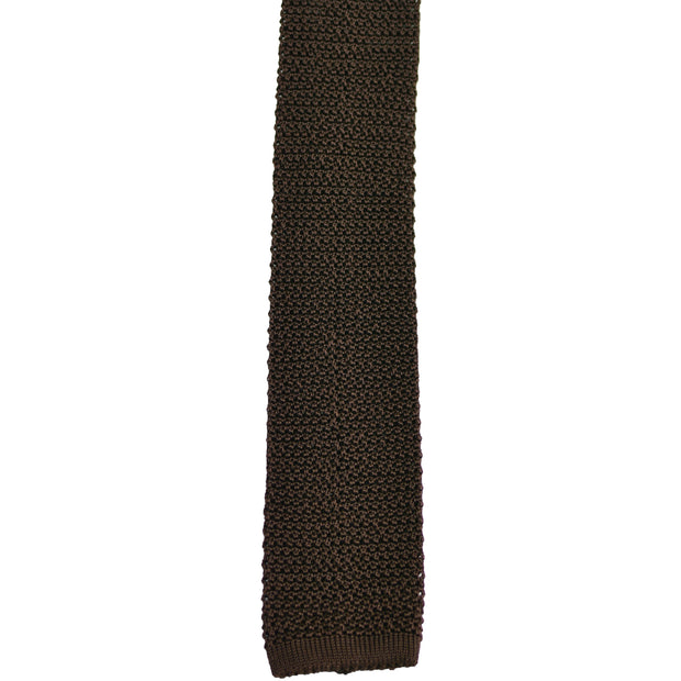 Brown Chocolate Silk Knit Tie