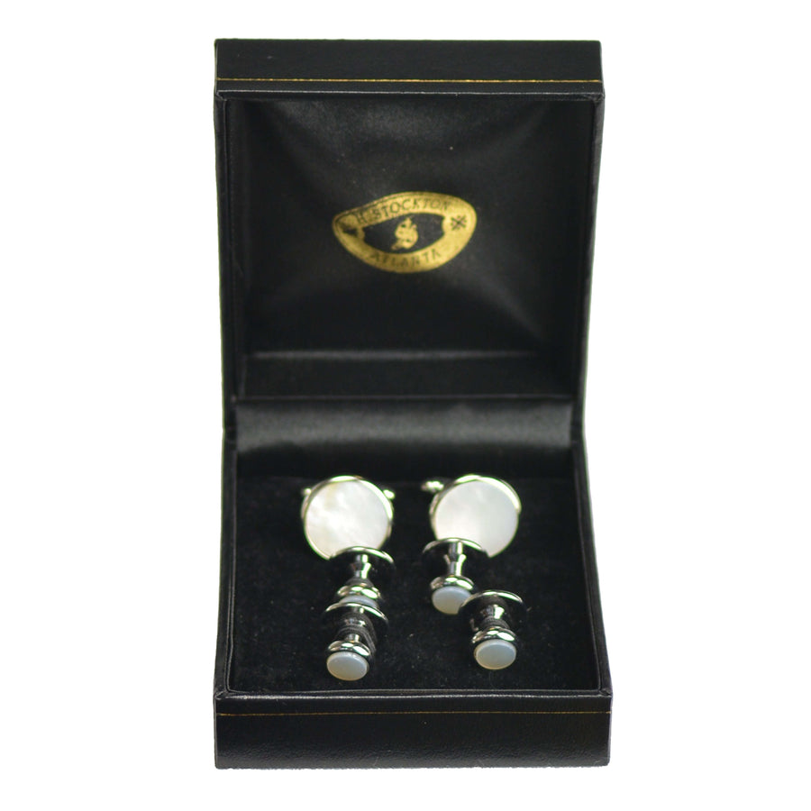 Mother-Of-Pearl Formal Set - Silver