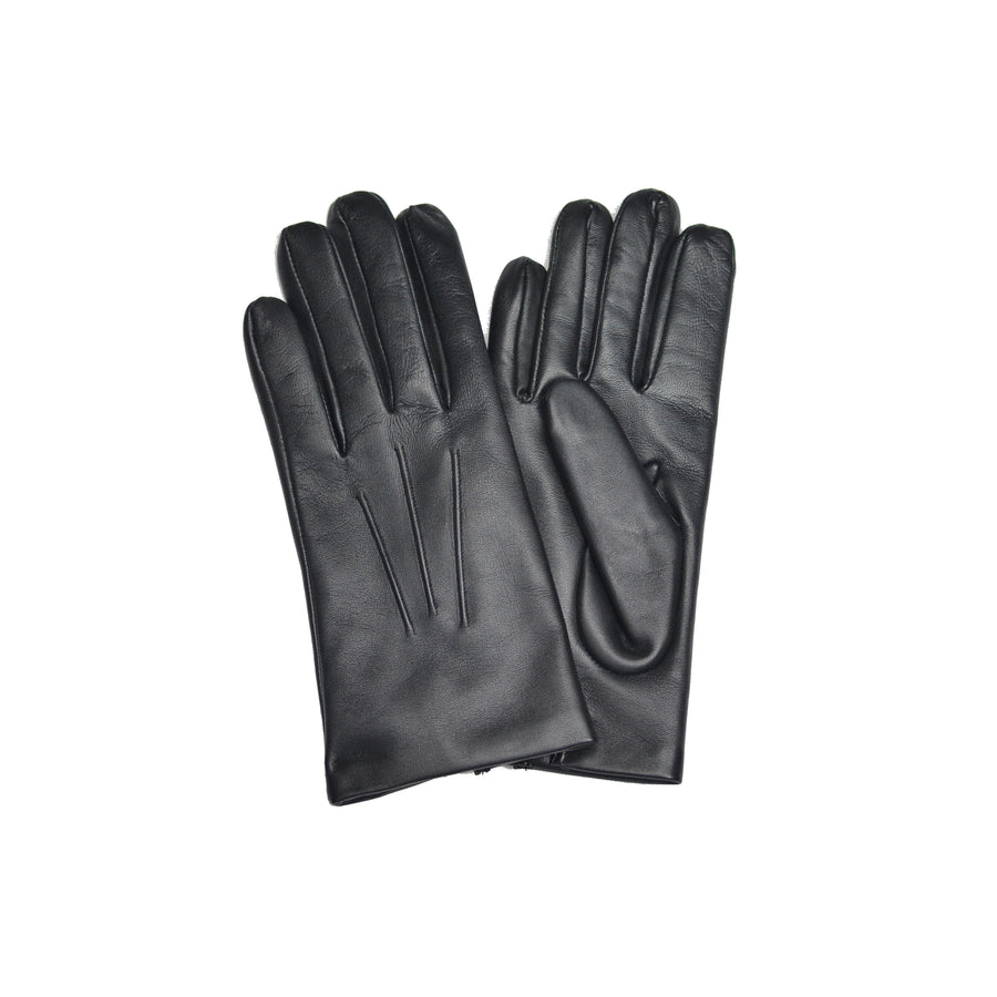 Black Calf Cashmere Lined Gloves