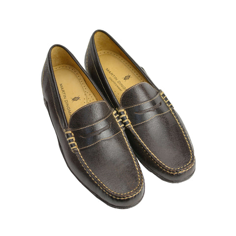 Brown Walnut Water Buffalo Penny Loafer