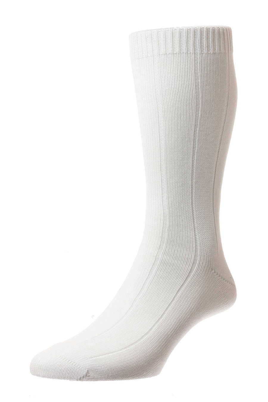 White Sport Cotton Mid-Calf