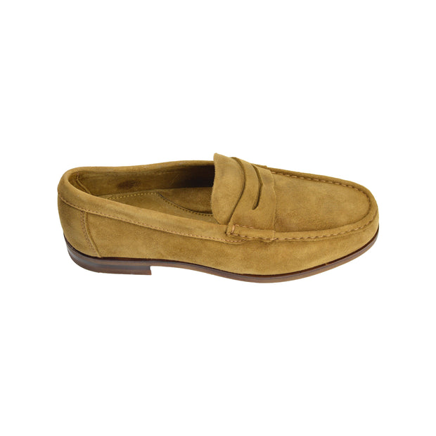 Tan Ginger Suede Penny Loafer