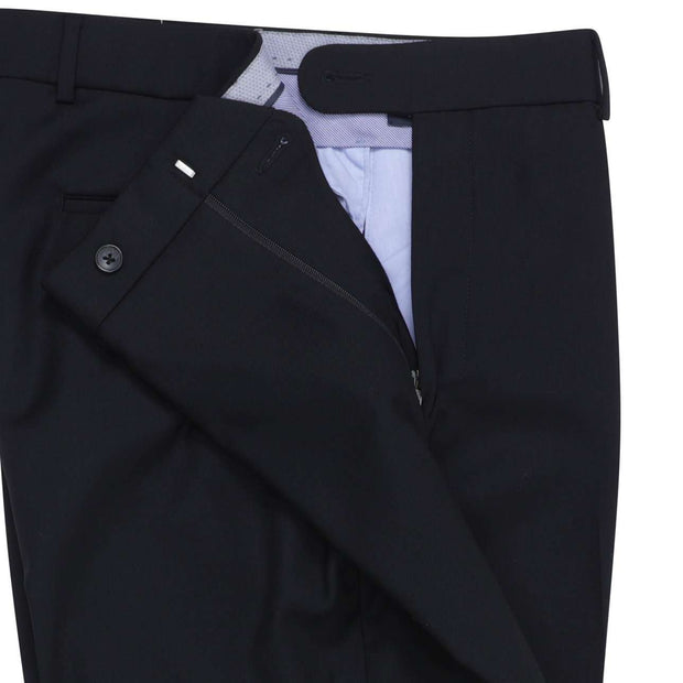 Black Super 120's  Serge Trouser