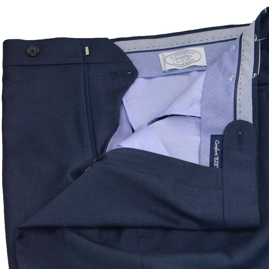 Close up Navy EZE Gab  trouser