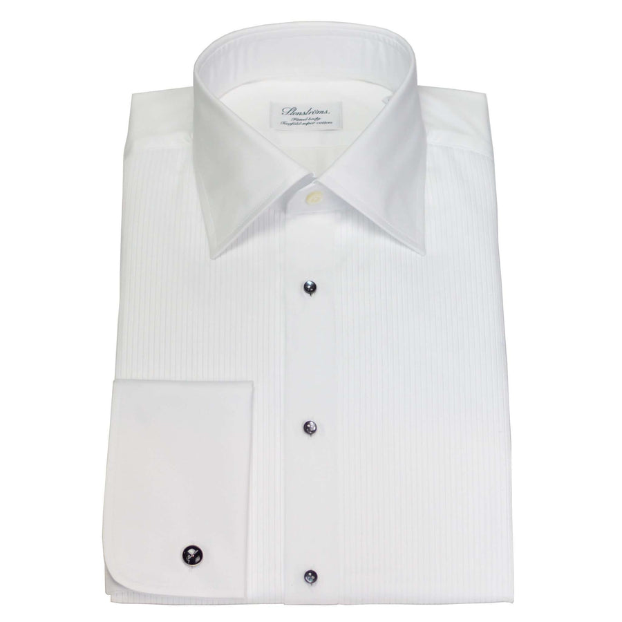 Pleated Front Formal Shirt - STENSTROMS - H. Stockton