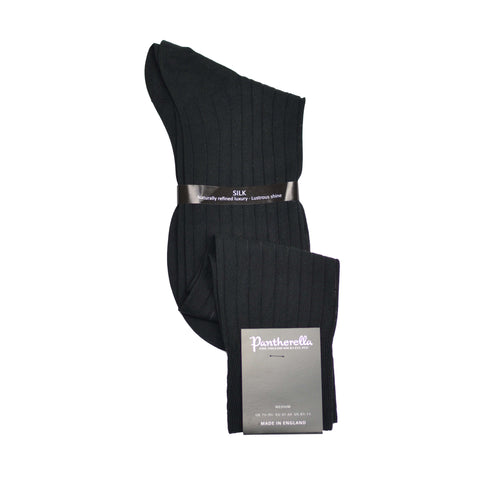 Over-The-Calf Silk Formal Dress Sock - Black