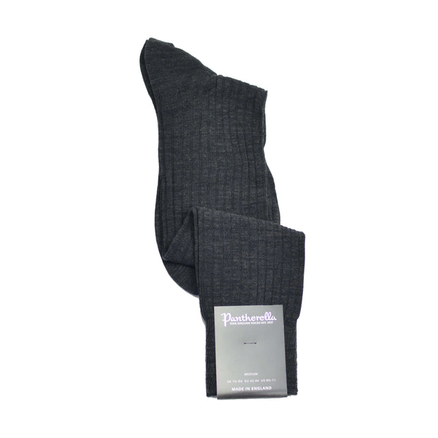 Over-The-Calf Merino Wool Dress Sock - Grey Charcoal