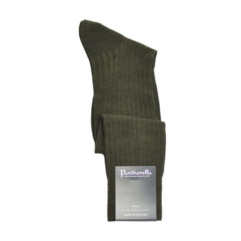 Over-The-Calf Merino Wool Dress Sock - Dark Olive