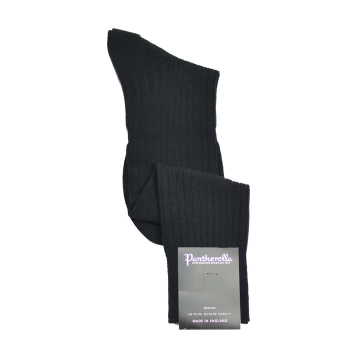 Black merino sock OTC Pantherella