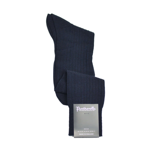 Over-The-Calf Merino Wool Dress Sock - Navy