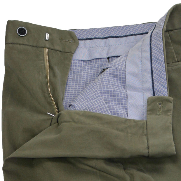 Green Olive Brushed Supima Cotton Trouser