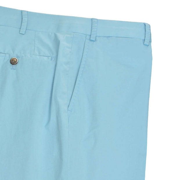 Blue Seafoam Superfine Twill Cotton Trouser