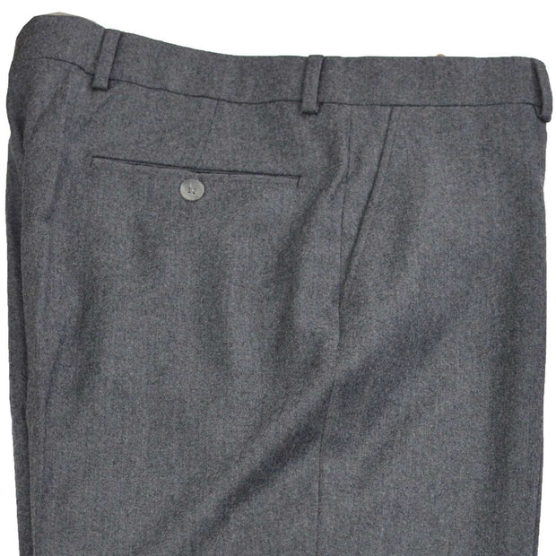 Grey Mix Flannel Wool Dress Trouser - Regular Fit