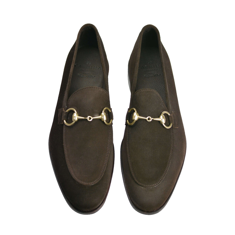 Chocolate Soft Suede Bit Loafer