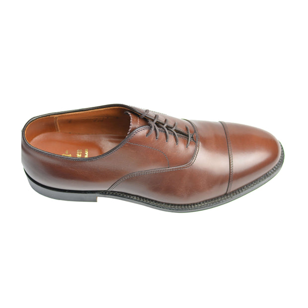 Brown Calfskin Cap Toe Balmoral