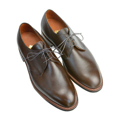 Brown Calfskin Pebble Grain 3-Eye Blucher