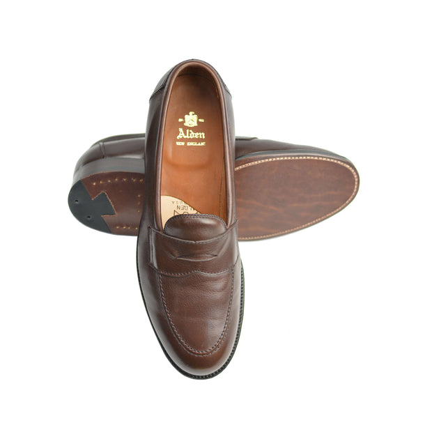 Brown Calfskin Penny Loafer