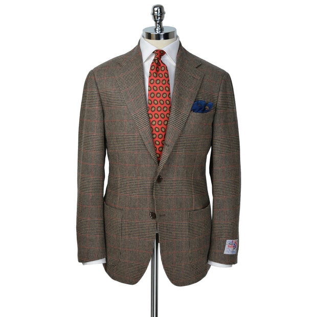 Brown with Red Glen Plaid Model 254 Wool Sport Coat