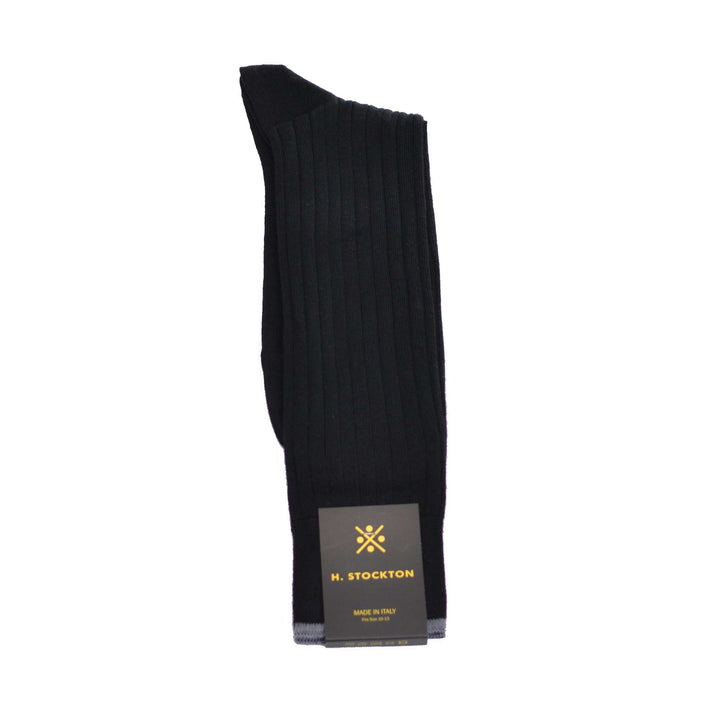 Black Merino Midcalf sock