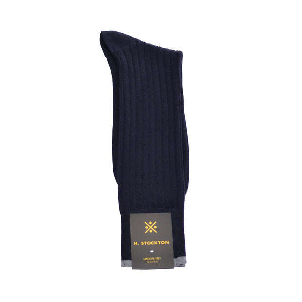 Mid-Calf Merino Wool Dress Sock - Navy