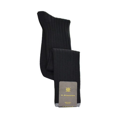 Over-The-Calf Merino Wool Dress Sock - Black