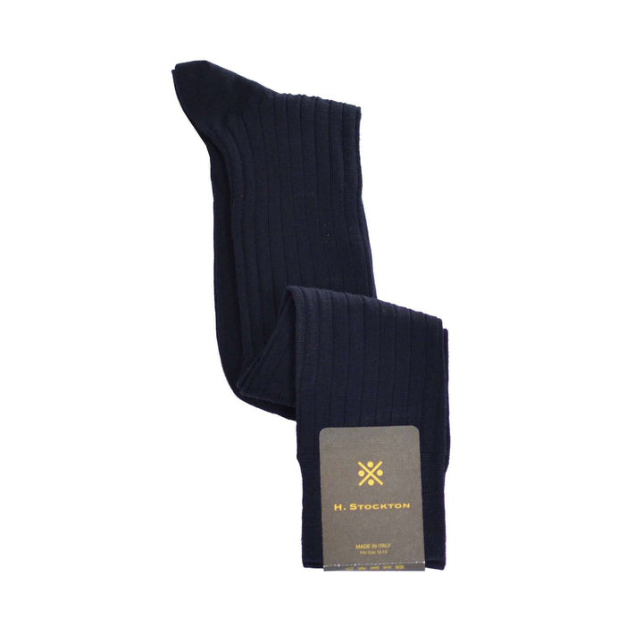Navy merino wool blend sock otc