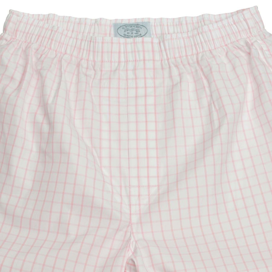 Close up pink graph boxers