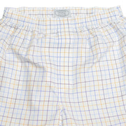 White with Blue Sky/Blue Royal/Purple Eggplant/Gold Tattersall Check Pinpoint Boxer Short