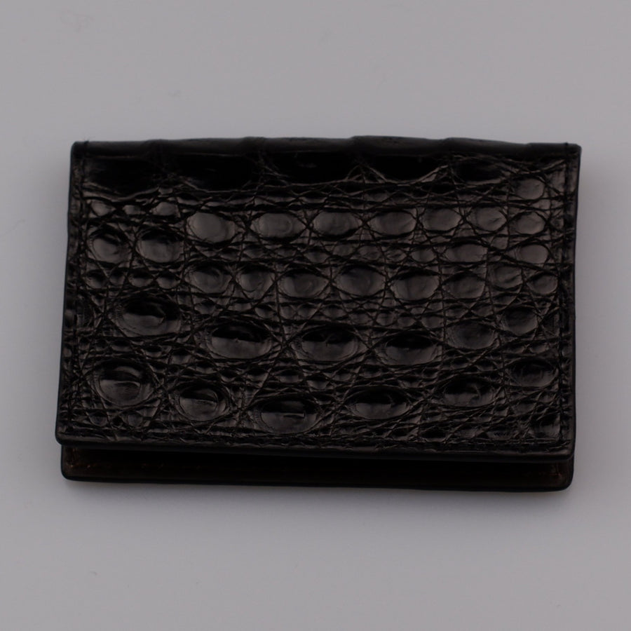 Black  Matte Crocodile ID Case