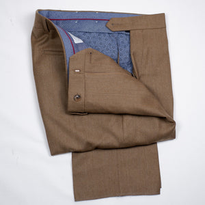 Cognac Flannel Trouser