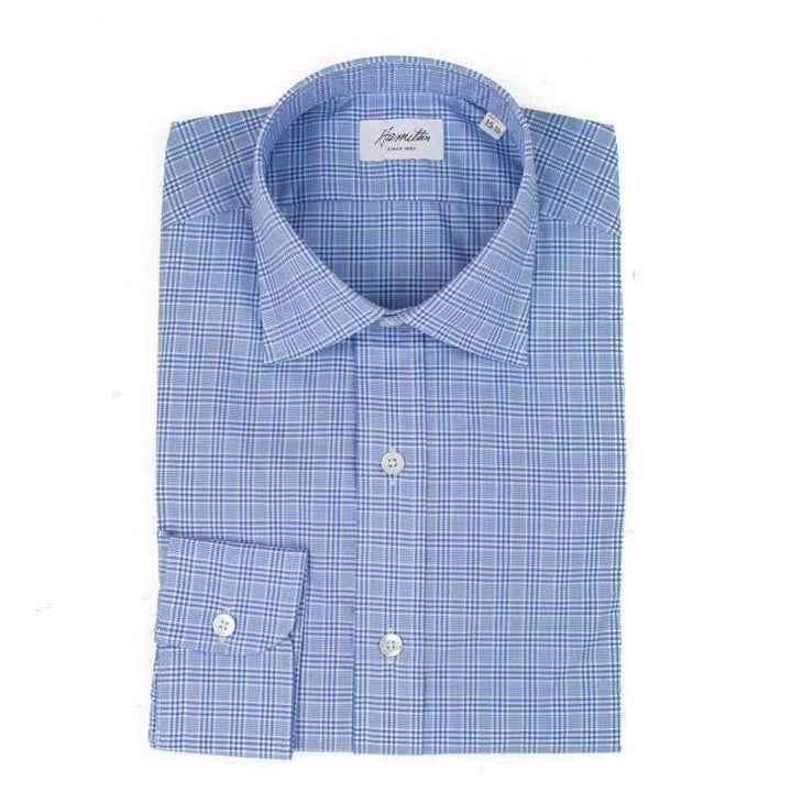 Blue Glen Plaid - HAMILTON SHIRTS - H. Stockton
