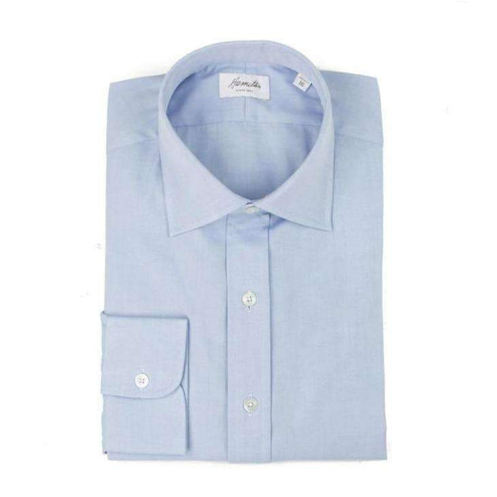 Blue Pinpoint Oxford - HAMILTON SHIRTS - H. Stockton