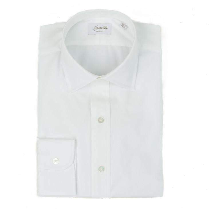 White Pinpoint Oxford - HAMILTON SHIRTS - H. Stockton